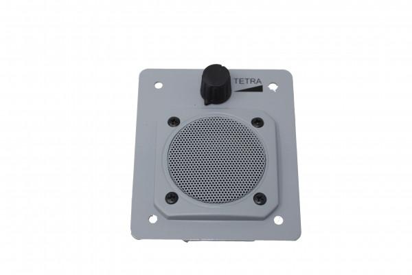 Einbaublende TETRA mit Lautsprecher und Regler