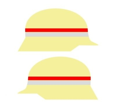 Klebestreifen für Stadt- und Gemeindebrandinspektoren (1000 mm)